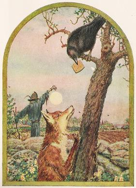 Fox And Crow Aesops Fables Stories With Morals